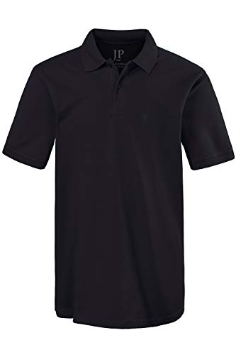 JP 1880 Herren große Größen Poloshirt, Halbarm, gerade geschnitten, Pikee-Qualität schwarz 6XL 702560 10-6XL