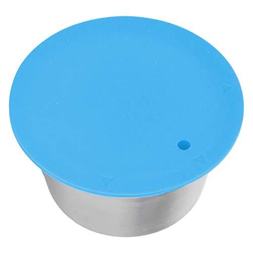 Cápsula de café recargable de acero inoxidable con tapa de polvo Cápsula de filtro de café Taza Práctica cápsula para Dolce Gusto para hacer café(blue)
