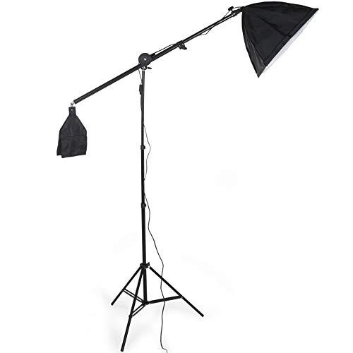 TecTake Profi Fotostudio Set inkl. Leuchtmittel Softbox + Tasche - Diverse Modelle - (3X Studioleuchte + Stativ/Galgenstativ Art. 400894)