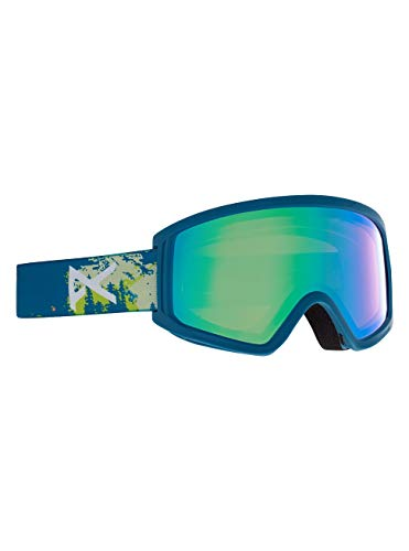 Anon Unisex Jugend Tracker 2.0 Snowboard Brille, Blue Mountain/Green Amber