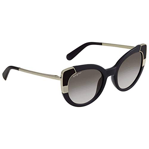 SALVATORE FERRAGAMO Gafas de Sol SF 890S Black/Dark Grey Shaded 52/22/135 mujer