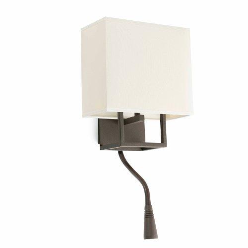 Faro Barcelona 29983 - Vesper Lampe Applique Brun et Beige avec Lecteur LED