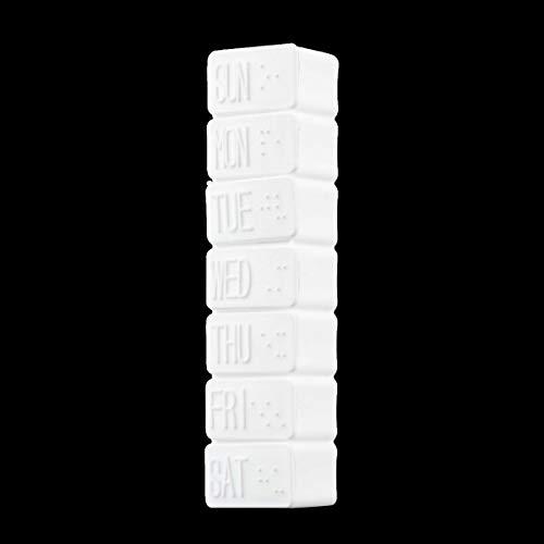 Greatangle 1 Unidad, una Semana, 7 días, pequeña Caja de medicamentos para píldoras, píldora, Mini Pastillero, contenedor, Estuche de plástico no extraíble, Soporte