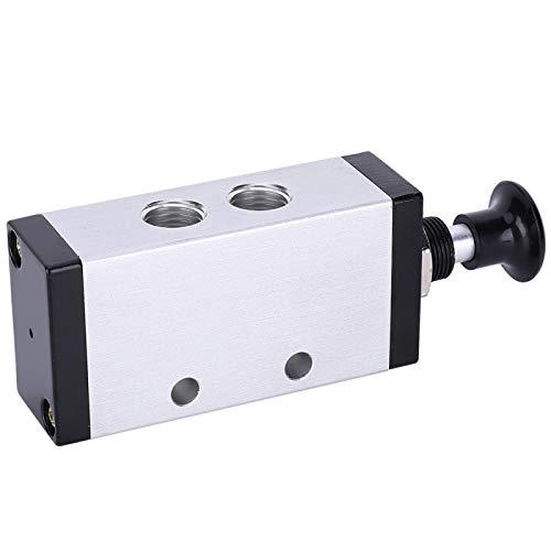 Válvula de aire, válvula manual de dos posiciones y tres vías que resiste la presión para sistemas neumáticos