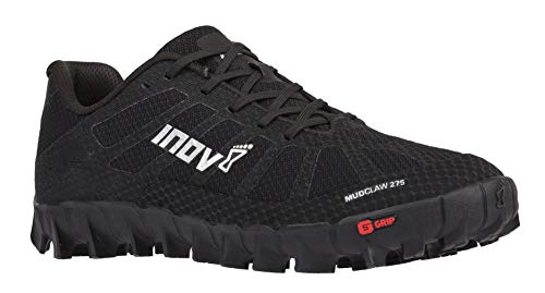 Inov-8 Mudclaw 275 - Trail Running OCR Shoes - Soft Ground - for Obstacle, Spartan Races and Mud Running - Black/Silver 7.5 Women/6 Men