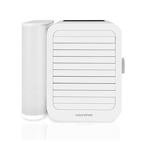 Microhoo Lüfter der Klimaanlage Mobile Klimaanlage Mini Luftkühler Luftbefeuchter Klein Persönliche Klimaanlage mit Timer, 99 Geschwindigkeitsanpassungen 2 Modelle