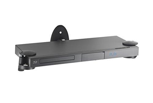 VonHaus – Wandregal –Wandhalterung für DVD Player / PS4 / Kabelboxen / Spielkonsolen / TV Zubehör - Schwarz