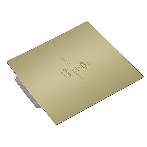 BIGTREETECH Für CR10 Magnetische flexible Stahlplatte Plattform 3D-Drucker 310 x 310 mm, keine strukturierte starke Haftung für Anet A8 Plus, Anycubic Mega-X, etc.