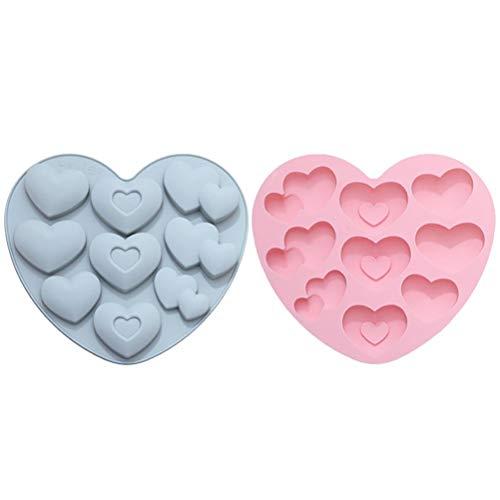 Kagodri Molde de gelatina en forma de corazón, molde de sil