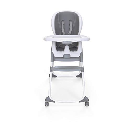 Ingenuity 12565 Trio 3-in-1 SmartClean Hochstuhl, schiefer - Hochstuhl, Babysitz und Sitzerhöhung in einem, mehrfarbig