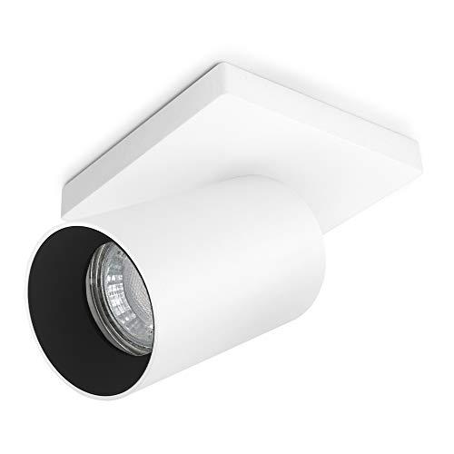 SSC-LUXon ALVO 1 Wandspot Deckenspot in weiß & schwarz 1 flammig - für GU10 Leuchtmittel - Design Strahler schwenkbar drehbar