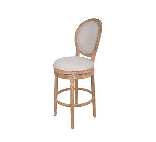 Best Quality Furniture Barstool Best Quality Solid Oak upholstered In Linen Swivel Bar Stool,