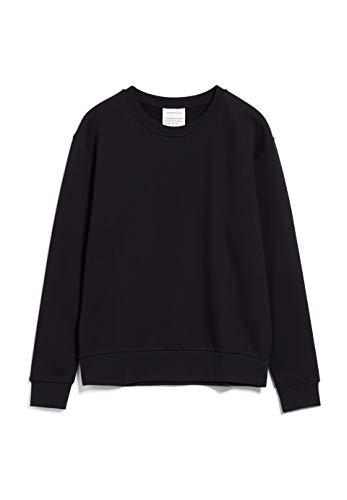 ARMEDANGELS MAATHILDE - Damen Sweatshirt aus Bio-Baumwolle M Black Sweat Shirt Relaxed Fit