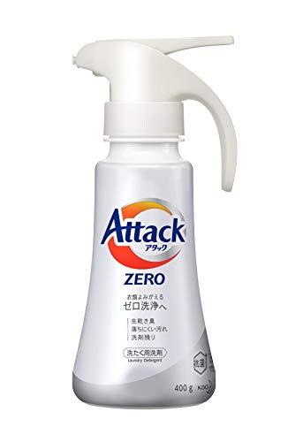 アタック ZERO(ゼロ) 洗濯洗剤 液体 ワンハンドプッシュ 本体 400g (衣類よみがえる「ゼロ洗浄」へ)