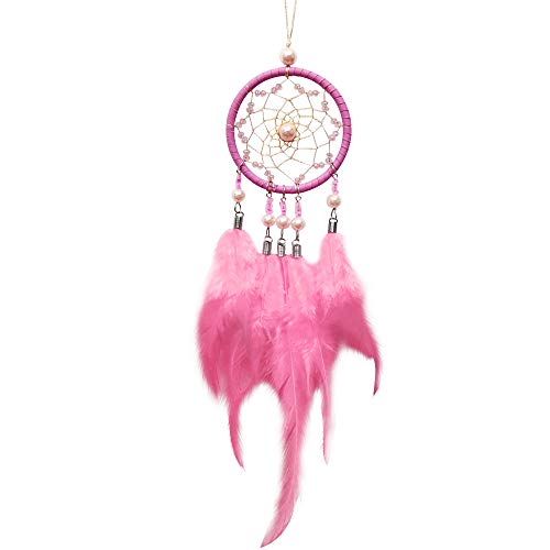 "ygmoner Dream Catcher Handmade Car Interior Rearview Mirror Dangle 2.8"" Diameter and 13"" Long"