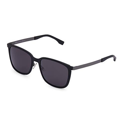 Hugo Boss 0723/S Y1 Gafas de sol, Negro (Matte Black Matte Dark Ruth/Grey), 56 Unisex-Adulto