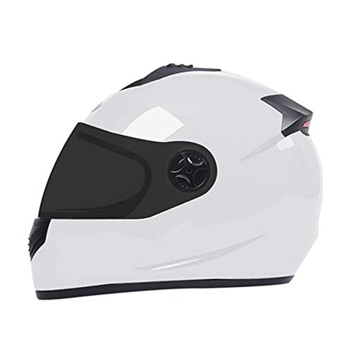 Bicycle Helmets, Electric Bicycle Helmets, Helmet With Tail Light Removable Anti-UV Magnetic Mirror Goggles for Men and Women 58~60cm White-B