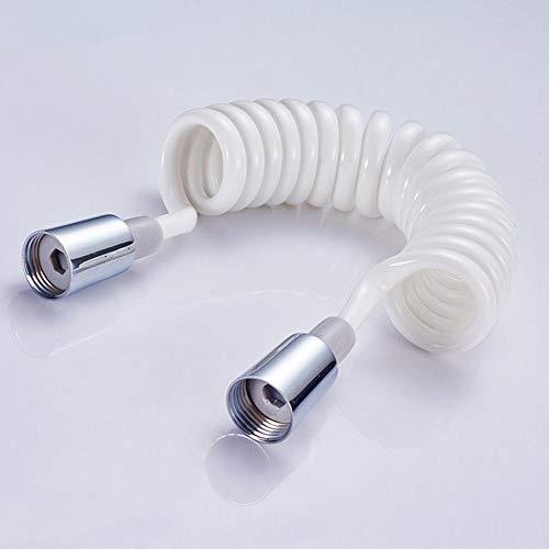 #N/V Tapón de cobre de espuma de ducha bidé telescópico manguera de resorte de PVC flexible retráctil manguera de ducha cabezal de inodoro bidé