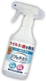 幅広いウィルス、細菌、カビに効果有 除菌 消臭スプレー大容量500ml 超安定型弱酸性次亜塩素酸除菌水 特許習得済 ジアのチカラLight