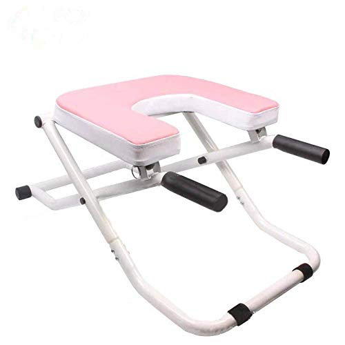 CURVEASSIST Pilates Kopfstand Bank Inverted Chair Assisted Home Fitness Inverted Hocker Inverted Machine Inverted Machine Inversionmachine Pink,Pink-OneSize