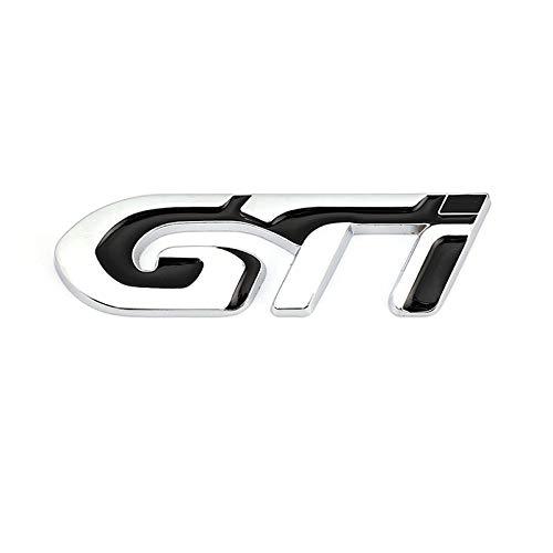 BBYT 3D del Coche de Metal de GTI del Logotipo Etiqueta de parachoque el Emblema de la Insignia Adhesivos for Volkswagen VW Polo GTI VW Golf MK4 MK5 MK6 3 4 5 6 7 Accesorios for el Coche