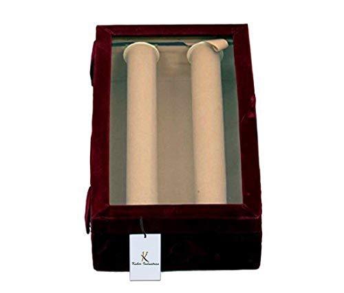 "Kuber Industriesâ""¢ 2 Rods Transparent Bangle Organizer Box Velvet Coated Jewelry Storage Case"