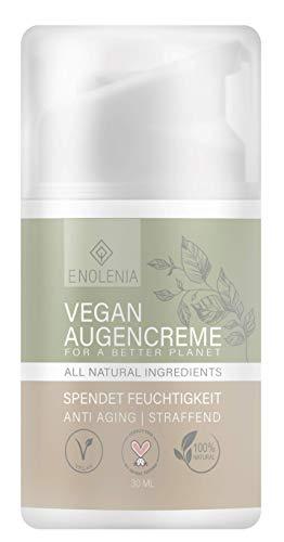 NEU: Enolenia® Cosmetics Augencreme – Straffende + feuchtigkeitsspendende Antifaltencreme – Für reife & junge Haut – pflanzlich, intensiv & vegan - für alle Hauttypen – ausgezeichnete Skin Care