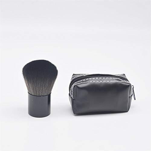 Cwenjing 1 Pc Kabuki Brosse Tête De Champignon Maquillage Brosse Poudre Libre Blush Pinceau Miel Poudre Brosse Avec Sac Base Brosse Idéal pour cadeau (Couleur : Makeup brush with bag)