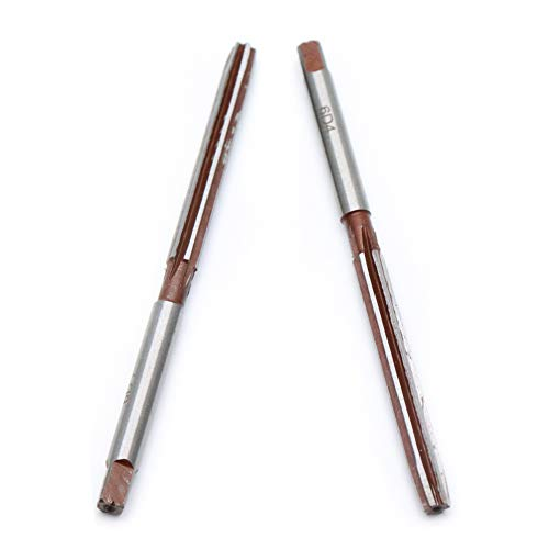 Yohii 2Pcs 6mm Reamer, 1/4 Inches Cutting Dia Hand Straight Shank HSS Chucking Reamer Milling Cutter Tool