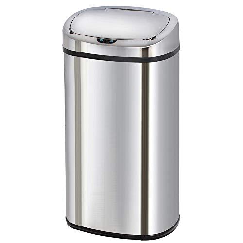 Poubelle de cuisine automatique 68L MAJESTIC grande capacité en acier INOX avec cerclage