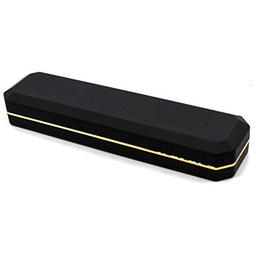 AVESON Luxury Necklace Box, Velvet Jewelry Box Storage Organizer Holder Case with LED Light, Black