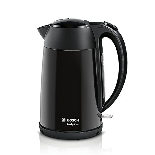 Bosch TWK3P423GB Kettle, Stainless Steel, 3000 W, 1.7 liters, Black