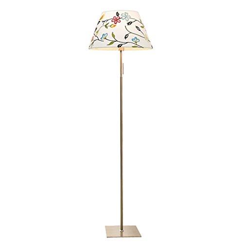 Duoer staande lampen, creatieve staande lampen, voor in de woonkamer, studeerkamer, met borduurwerk, verticale tafellamp, warm licht, nachtkastje, trekker, staande lamp, woonkamer
