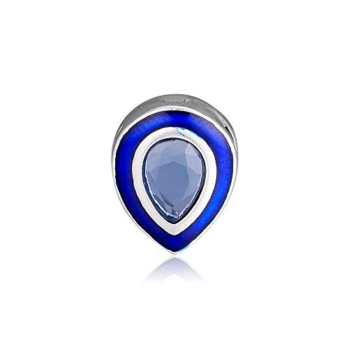 pandora 925 pulsera de la joyería natural deslumbrante azul dejar clip encantos reflexiones plata esterlina encanto granos para las mujeres del grano diy regalo
