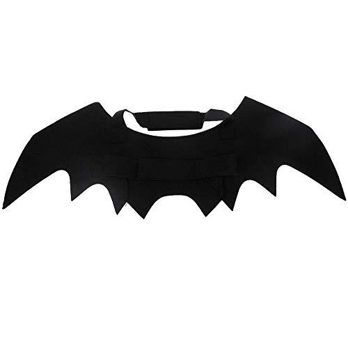 N\A - Alas de murciélago para mascota cosplay o disfraz de Halloween con alas de murciélago para perros o gatos para Halloween fiestas de Navidad (negro)