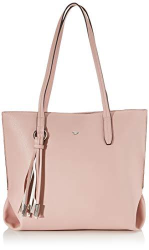 TOM TAILOR Shopper Damen, Rosa, Lucca, 37x14x28 cm, Handtasche groß, Umhängetasche