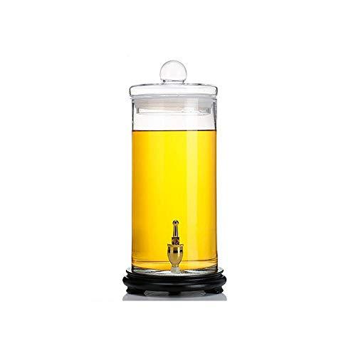 HEMFV Barril de vinificación Dispensador de Licor - Botella de Vino espumoso con Grifo Botella de Vino para el hogar Botella de Vidrio de Vino sellada sin Plomo Latas de Vino (Color : D, Size : 4.5L)