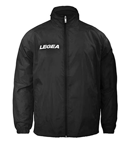 Giosal Herren Jacke Jacket Rain LEGEA Italia Sportbekleidung Relax L Schwarz
