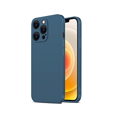 TANAKEY Cubierta de Silicona Compatible con iPhone 13, A Prueba De Golpes Funda de Silicona Líquida Compatible con iPhone 13 Pro   13 Pro MAX (13 Pro (6.1 Pulgadas), Azul Marino)