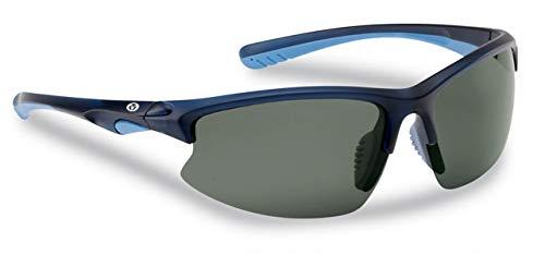 Flying Fisherman Drift Polarized Sunglasses with AcuTint UV Blocker for Fishing and Outdoor Sports, Matte Crystal Navy Frames/Smoke Lenses