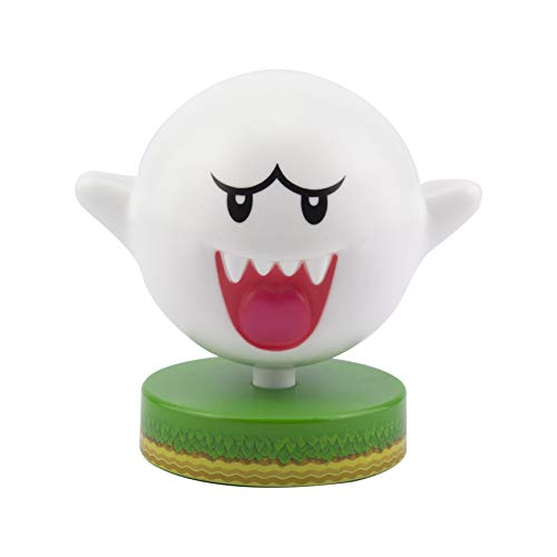 Paladone Super Mario Bros. Boo Ghost 3D Night Light, Decorative Lamp Collectible, Multi-Colour