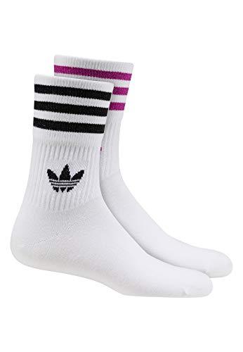 adidas Originals Socken Doppelpack MID CUT GLT SCK FL9685 weiss / Streifen Schwarz+flieder, M