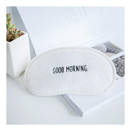 YHWLKK Schlaf-Augen-Schablone for Schlaf-Beihilfen, superglatte Augenmaske for Schlafen Leichten & Comfortable & Adjustable, Super Soft for Männer & Frauen Reisen (Ich schlafe) (Color : White)