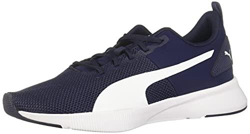 PUMA Unisex-Adult Men's Flyer Runner Running Shoe Sneaker, Peacoat White, 10