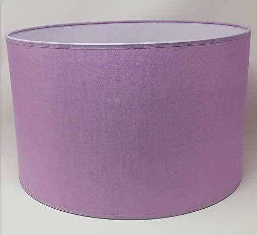 Zylinder Lampenschirm Baumwolle Stoff handgefertigt für Deckenleuchte, Tischleuchte, Stehlampe (Lila, 25 cm Durchmesser 20 cm Höhe)
