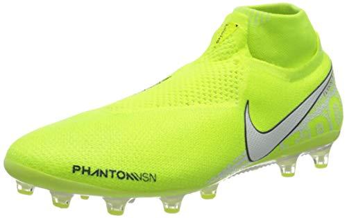 Nike Phantom Vision Elite Dynamic Fit AG-PRO, Scarpe da Calcio Unisex-Adulto, Verde (Volt/White/Barely Volt 717), 41 EU