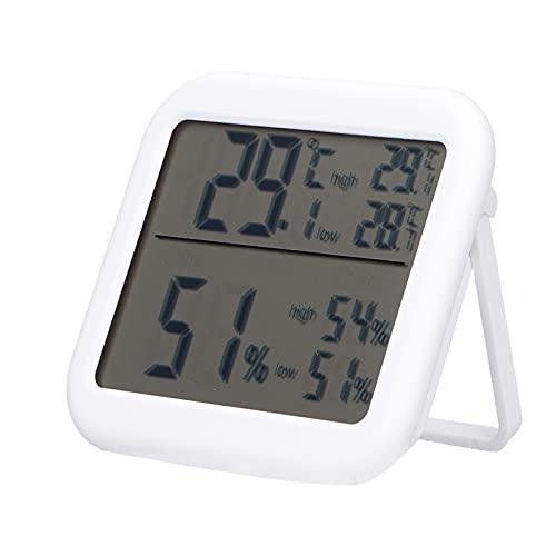 Medidor de temperatura y humedad, Monitor de temperatura y humedad, Termómetro digital Higrómetro Medidor de temperatura y humedad con función de memoria para interiores