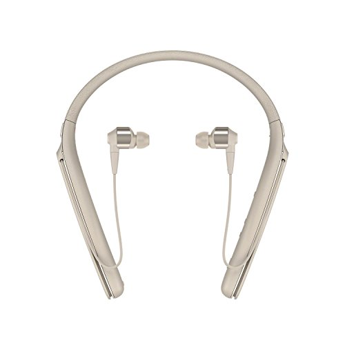 Sony Premium Noise Cancelling Wireless Behind-Neck in Ear Headphones - Gold (WI1000X/N)