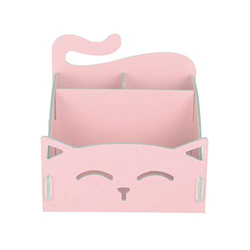 Toyvian DIY-Stifthalter - Stifthalter aus Holz für Katzen, Kosmetik-Halter, Tisch-Organizer, schönes Briefpapier für Das Home Office