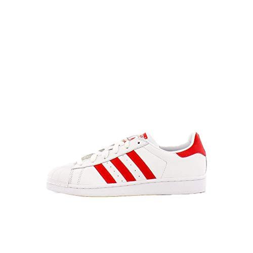 adidas Originals womens Superstar Sneaker, White/Active Red/Core Black, 7 US